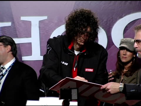 howard stern signs autographs for fans at the howard stern last day live event arrivals and inside at hard rock cafe in new york new york on december... - hard rock cafe stock videos & royalty-free footage