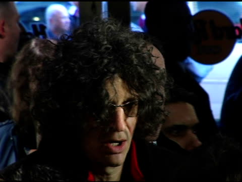 howard stern talking to press at the howard stern last day live event arrivals and inside at hard rock cafe in new york new york on december 16 2005 - hard rock cafe stock videos & royalty-free footage