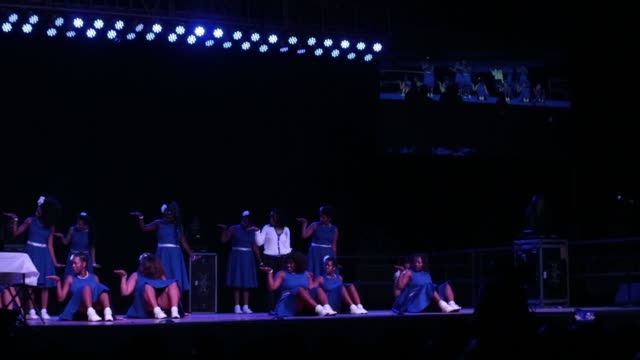 howard university hosted their 93rd annual homecoming greek step show competition on friday, october 21, at the burr gymnasium on campus. - ホームカミング点の映像素材/bロール
