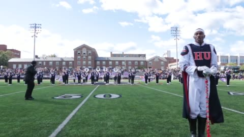 howard university's marching band performs during halftime of their 93rd annual homecoming game against north carolina a&t on saturday, october 22,... - homecoming stock videos & royalty-free footage