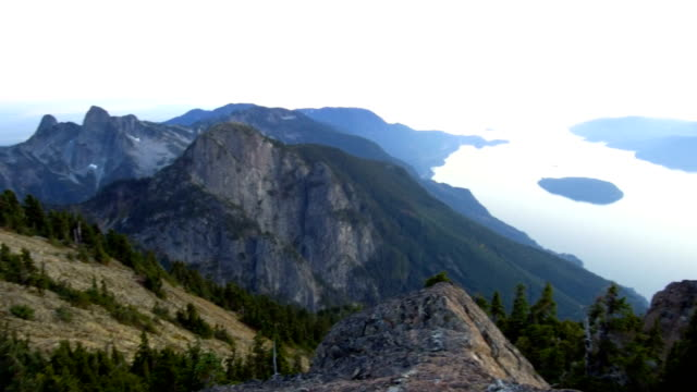 howe sound at sunset - vancouver canada stock videos and b-roll footage