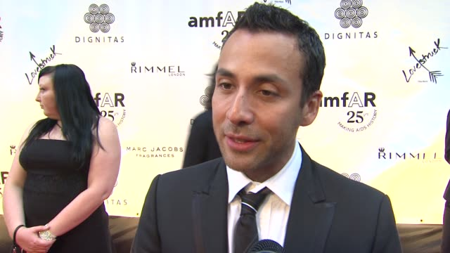 howie d on amfar on being here at tiff on the backstreet boys at the amfar and dignitas international partner on 'cinema against aids' toronto gala... - backstreet boys stock videos & royalty-free footage
