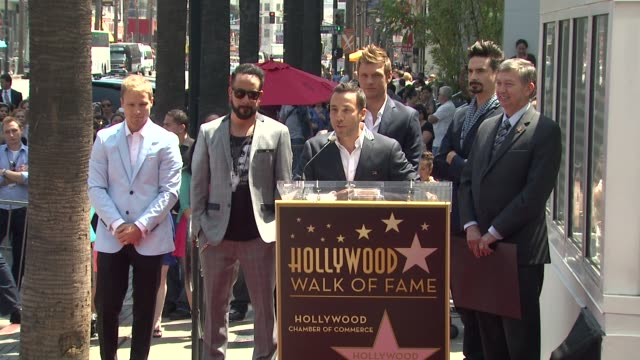 speech howie dorough on being honored with a star on the hollywood walk of fame at backstreet boys celebrate 20 year career with star on the... - backstreet boys stock videos & royalty-free footage