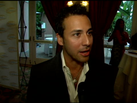 howie dorough on what brought him out to the event on the group being on hiatus on working on a solo record on preparing to open a hotel at the 6th... - the beverly hilton hotel stock-videos und b-roll-filmmaterial