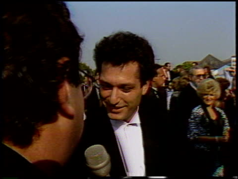 Howie Mandel at the 1987 Emmy Awards with Stuart Pankin at the Pasadena Civic Auditorium in Pasadena California on September 20 1987