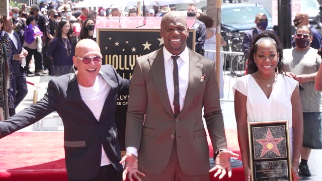 howie mandel, terry crews, tichina arnold at the ceremony honoring terry crews with a star on the hollywood walk of fame on july 30, 2021. - celebrities stock videos & royalty-free footage