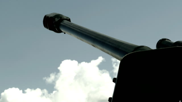 howitzer - against a cloudy sky (time lapse) - artillery stock videos & royalty-free footage