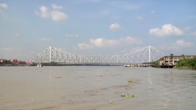 WS Howrah bridge over hooghly river / Kolkata, West Bengal, India