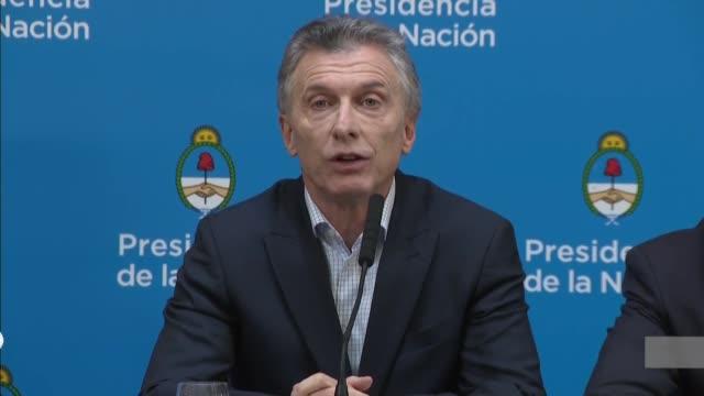 hoy hemos tenido un día muy malo dijo el lunes el presidente argentino mauricio macri tras el derrumbe de los mercados por el fuerte reves que sufrio... - día stock videos & royalty-free footage
