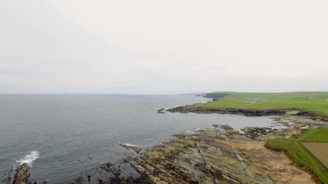 hoy (from norse háey meaning high island) is an island in orkney, scotland - hoy stock videos & royalty-free footage