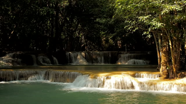 huai mae khamin waterfall - landscaped stock videos and b-roll footage