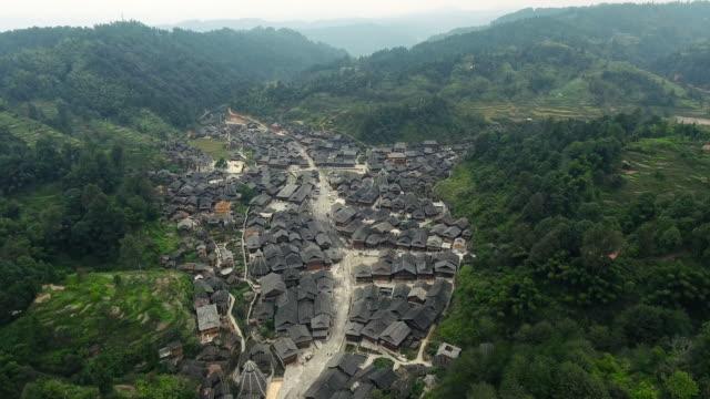 huanggang dong village in guizhou china - village stock videos & royalty-free footage