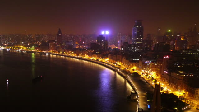 Huangpu River, Huangpu, The Bund, night, city lights, Shanghai, China