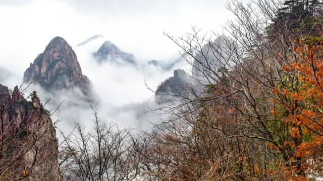 huangshan (yellow mountains), ost-china. - unesco welterbestätte stock-videos und b-roll-filmmaterial