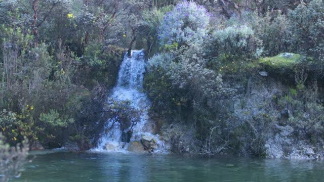 Huascaran Waterfall in Peru, Wide HIghspeed Pan