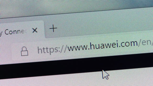 huawei's url is typed in web browsers' address box on december 30, 2020. - web address stock videos & royalty-free footage