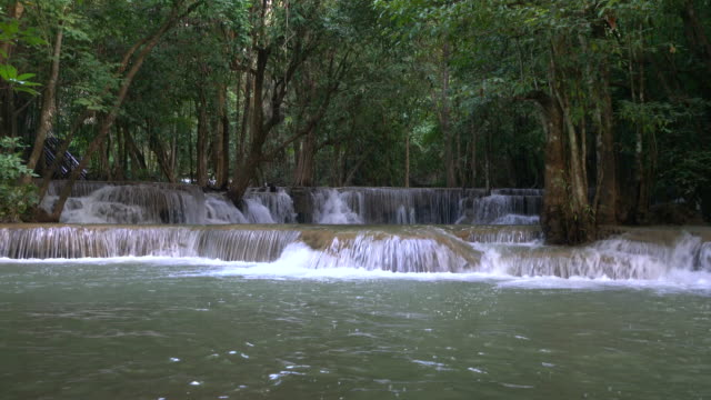 huay mae kamin waterfall kanchanaburi thailand - rapid stock videos & royalty-free footage