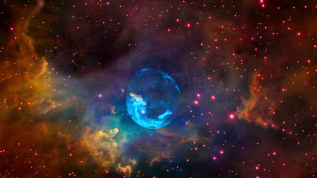 hubble space telescope images: the bubble nebula - hubble space telescope stock videos & royalty-free footage