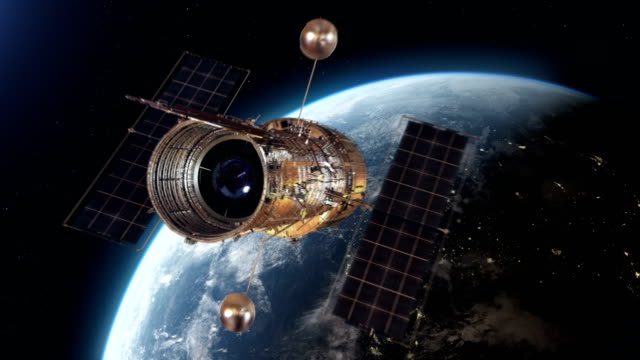 hubble space telescope - satellite view stock videos & royalty-free footage