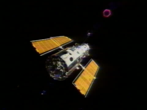 hubble telescope in space - hubble space telescope stock videos & royalty-free footage