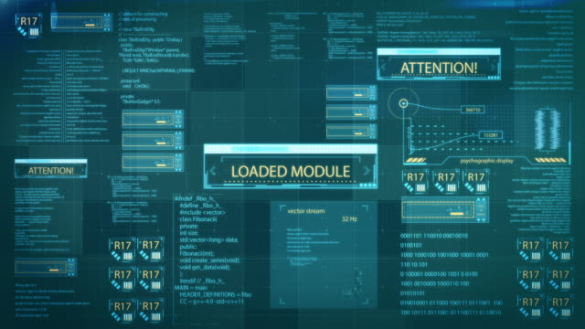 hud control panel - future interface - information medium stock videos & royalty-free footage