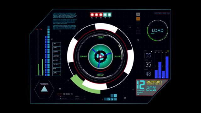 Hud futuristic Interace button
