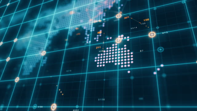 hud graphical user futuristic user interface world map - touch sensitive stock videos & royalty-free footage