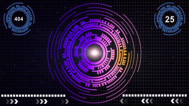 Technologie futuriste d'interface GUI HUD modèle concept de réseautage
