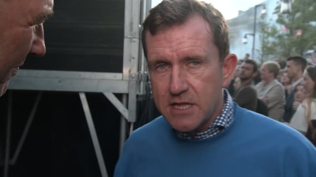 huddersfield town celebrates promotion to premier league; west yorkshire: huddersfield: dean hoyle on top of bus dean hoyle interview sot dean hoyle... - huddersfield town football club stock videos & royalty-free footage