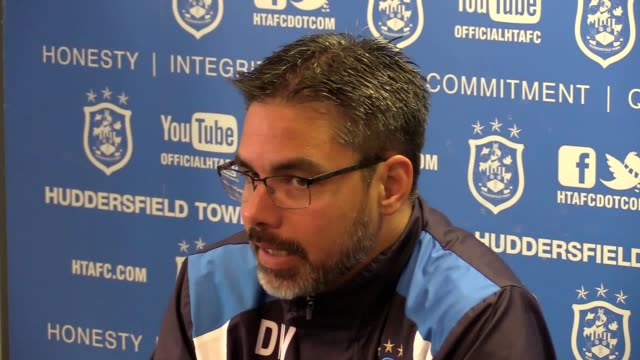 huddersfield town manager david wagner looks ahead to the second leg of the play-off semi-final against sheffield wednesday this wednesday night - huddersfield town football club stock videos & royalty-free footage