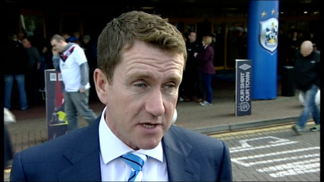 huddersfield town tribute to six british soldiers killed in afghanistan; dean hoyle interview sot various of huddersfield town fans and players... - huddersfield town football club stock videos & royalty-free footage
