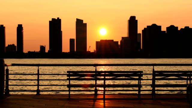 Hudson River Park Sonnenuntergang