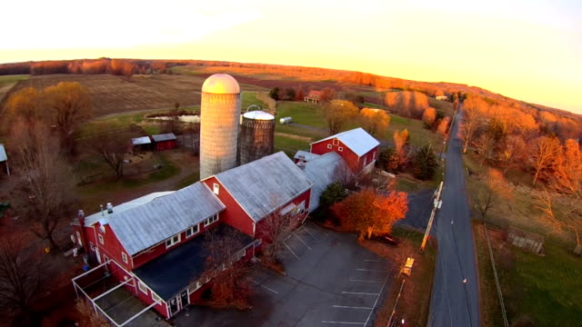 hudson valley farm aerial - hudson valley stock videos and b-roll footage