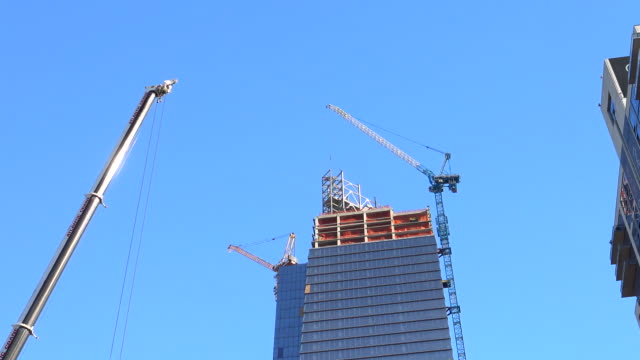 hudson yards, building construction, new york city, 2015 - hell's kitchen stock videos and b-roll footage