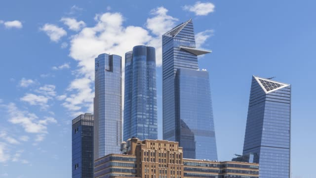hudson yards cloud time lapse - new york - 1931 stock videos & royalty-free footage