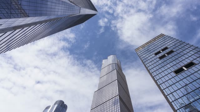hudson yards cloud time lapse - new york - directly below stock videos & royalty-free footage
