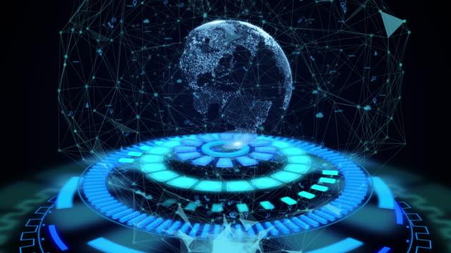 HUD, technologie, innovatie, bewegings-achtergrond