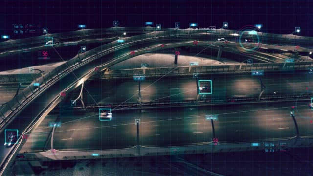 hud-tracking. motion graphic futuristic user interface head up display - mezzo di trasporto video stock e b–roll