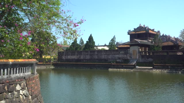hue imperial city citadel b-roll. hoàng thành. forbidden city - traditionally vietnamese stock videos & royalty-free footage