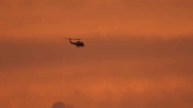 huey at dawn, nasa - military helicopter stock videos & royalty-free footage