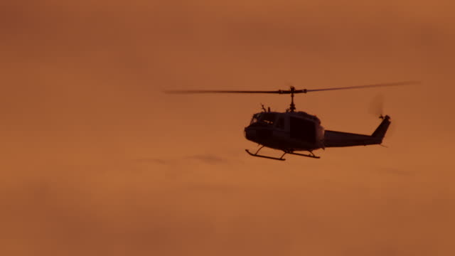 huey helicopter at dawn, nasa - military helicopter stock videos & royalty-free footage