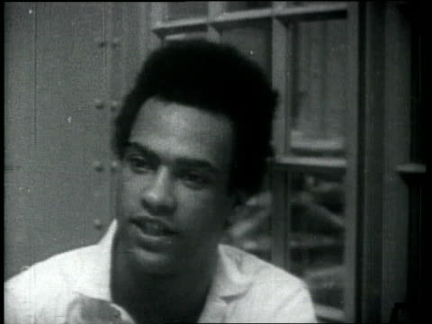 huey p newton interviewed in jail - social movement stock videos & royalty-free footage