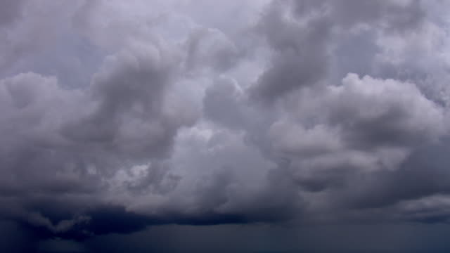 huge clouds stack over florida. - storm cloud stock-videos und b-roll-filmmaterial