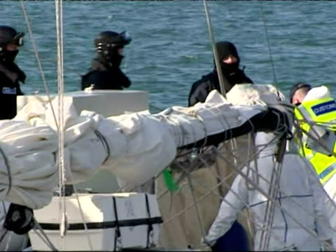 huge cocaine haul removed from yacht by customs officers in cork ireland - cocaine stock videos and b-roll footage