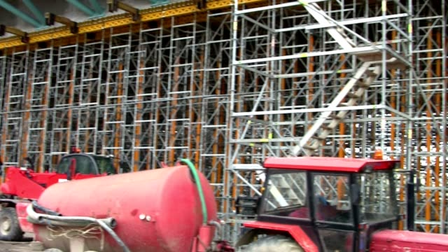 huge construction site - scaffolding stock videos & royalty-free footage