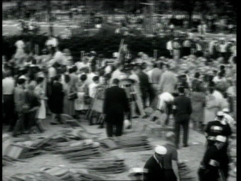 ws huge crowd dispersing after martin luther king delivers his speech singing and music / washington district of columbia united states - i have a dream 1963 speech stock videos & royalty-free footage