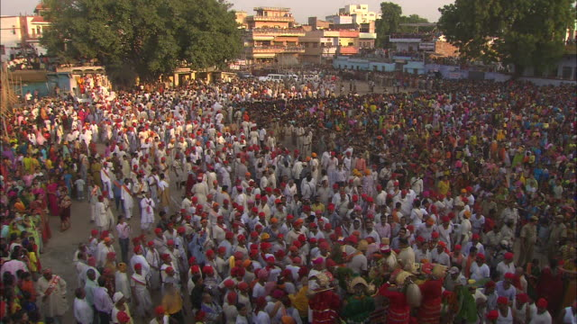 A huge crowd gathers for a Diwali celebration in India.