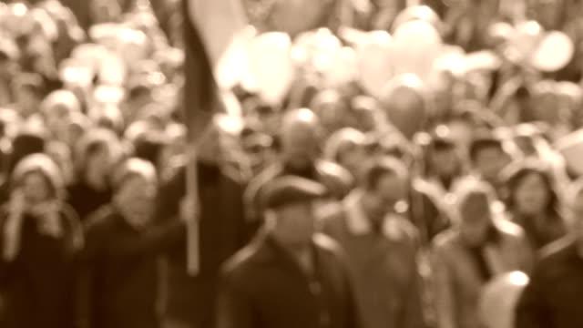 huge crowd of people