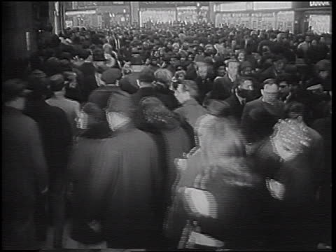 huge crowd walking on street during transit strike / nyc / newsreel - 1966 stock videos & royalty-free footage