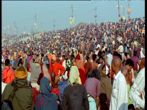 Huge crowds during Kumbh Mela, Allahabad, India